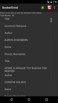 BookerDroid screenshot 2