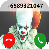 fake call from pennywise prank icon