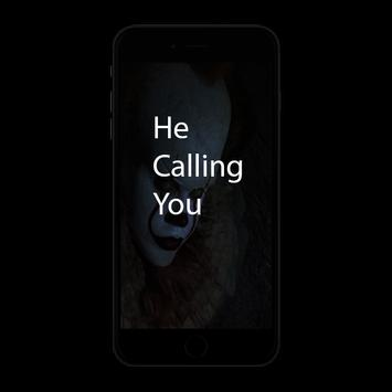 fake call from pennywise prank poster
