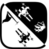Black & white ski challenge icon