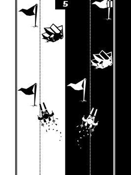 Black & white ski challenge apk screenshot