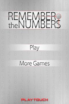 Remember the Numbers apk screenshot