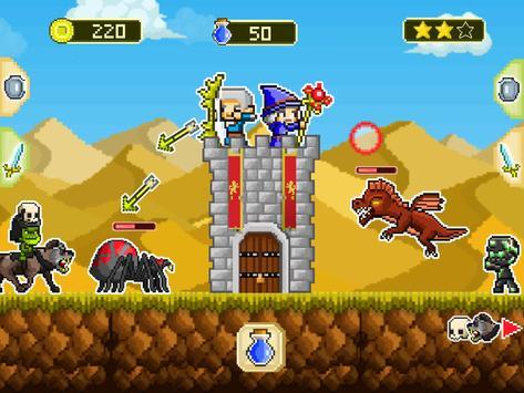 Mini guardians: castle defense (retro RPG game) poster