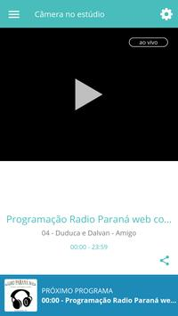 Rádio Paraná Web screenshot 1