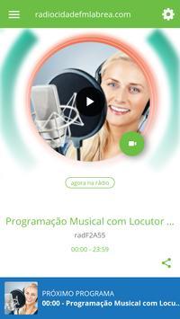radiocidadefmlabrea.com poster