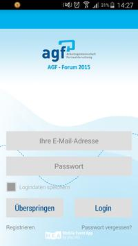 AGF-FORUM 2015 poster