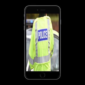 Police Officer calling Prank poster