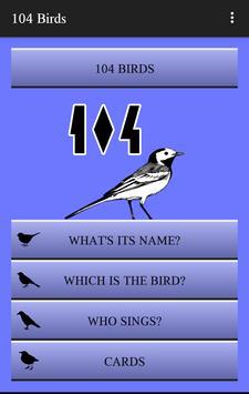 104 Birds Quiz poster