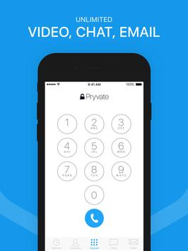 Pryvate Now – The Secure Mobile Communication App poster