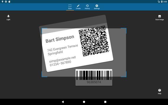 QRbot: escáner QR y lector de código de barras captura de pantalla de la apk