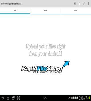 RapidFileShare.net Store&Share screenshot 1