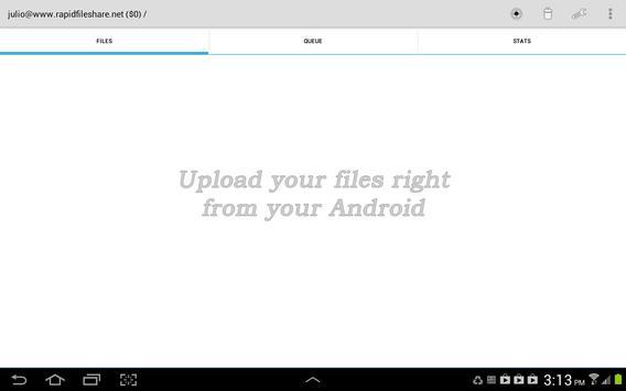 RapidFileShare.net Store&Share screenshot 2