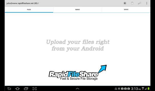 RapidFileShare.net Store&Share screenshot 3