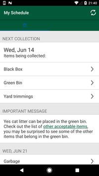 Ottawa Collection Calendar screenshot 1