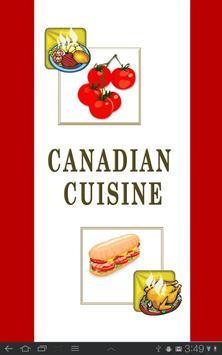 Canadian Cuisine poster