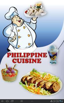 Philippine cuisine poster