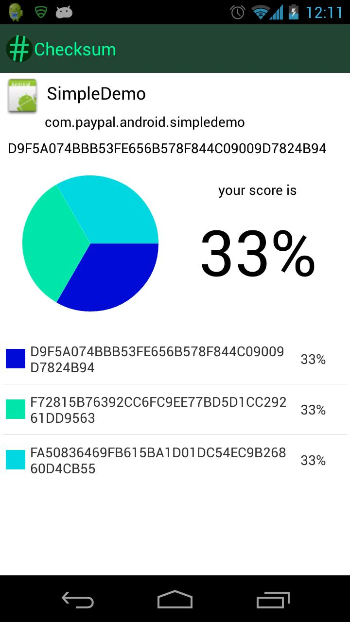 Checksum for Android - APK Download
