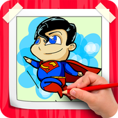 How To Draw Superman Step By Step icon