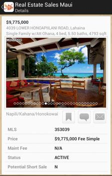 Real Estate Sales Maui screenshot 1