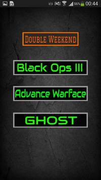 Double XP Weekend for COD poster