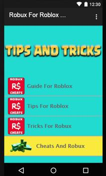 Robux For Roblox Tips screenshot 2