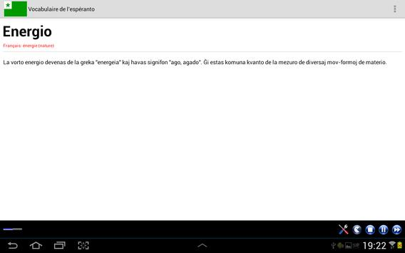 Vocabulaire Espéranto apk screenshot