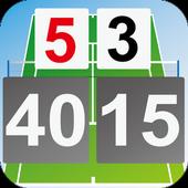Tennis Score & Card icon