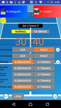 Tennis Score & Card poster