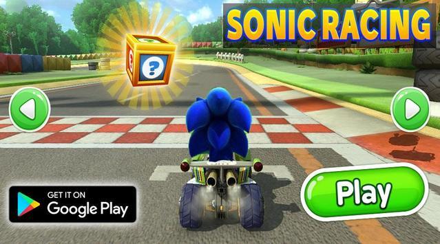 Subway Sonic Car poster