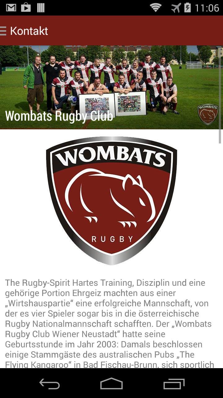 Wombats Rugby Club安卓下載 安卓版apk 免費下載