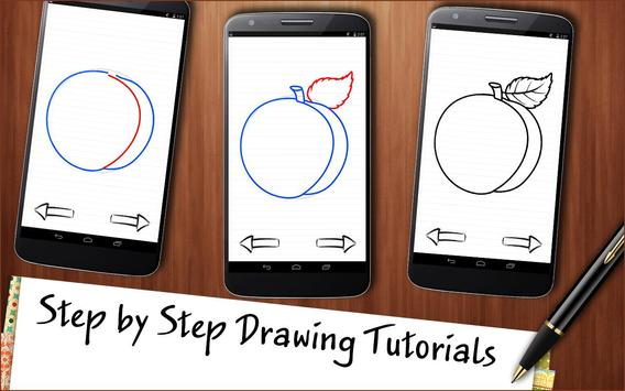 Drawing App Fruits and Berries Cocktail screenshot 1