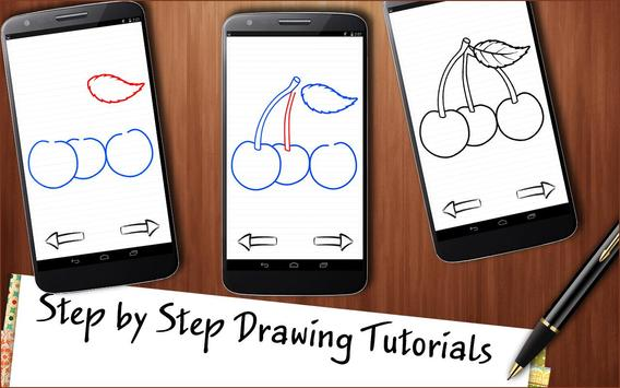 Drawing App Fruits and Berries Cocktail screenshot 2