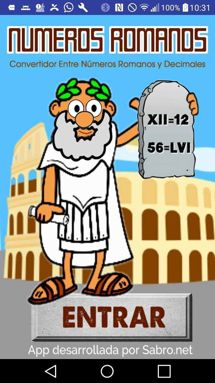 Data Em Numeros Romanos numeros romanos para android - apk baixar