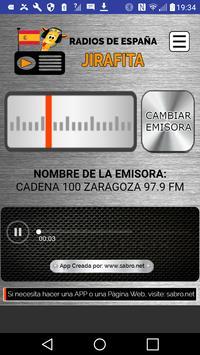 Radios de España Jirafita apk screenshot