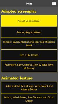 Award Ceremony Picks screenshot 1