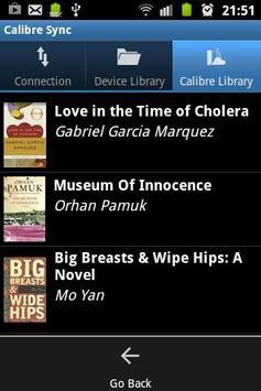 Calibre Sync apk screenshot