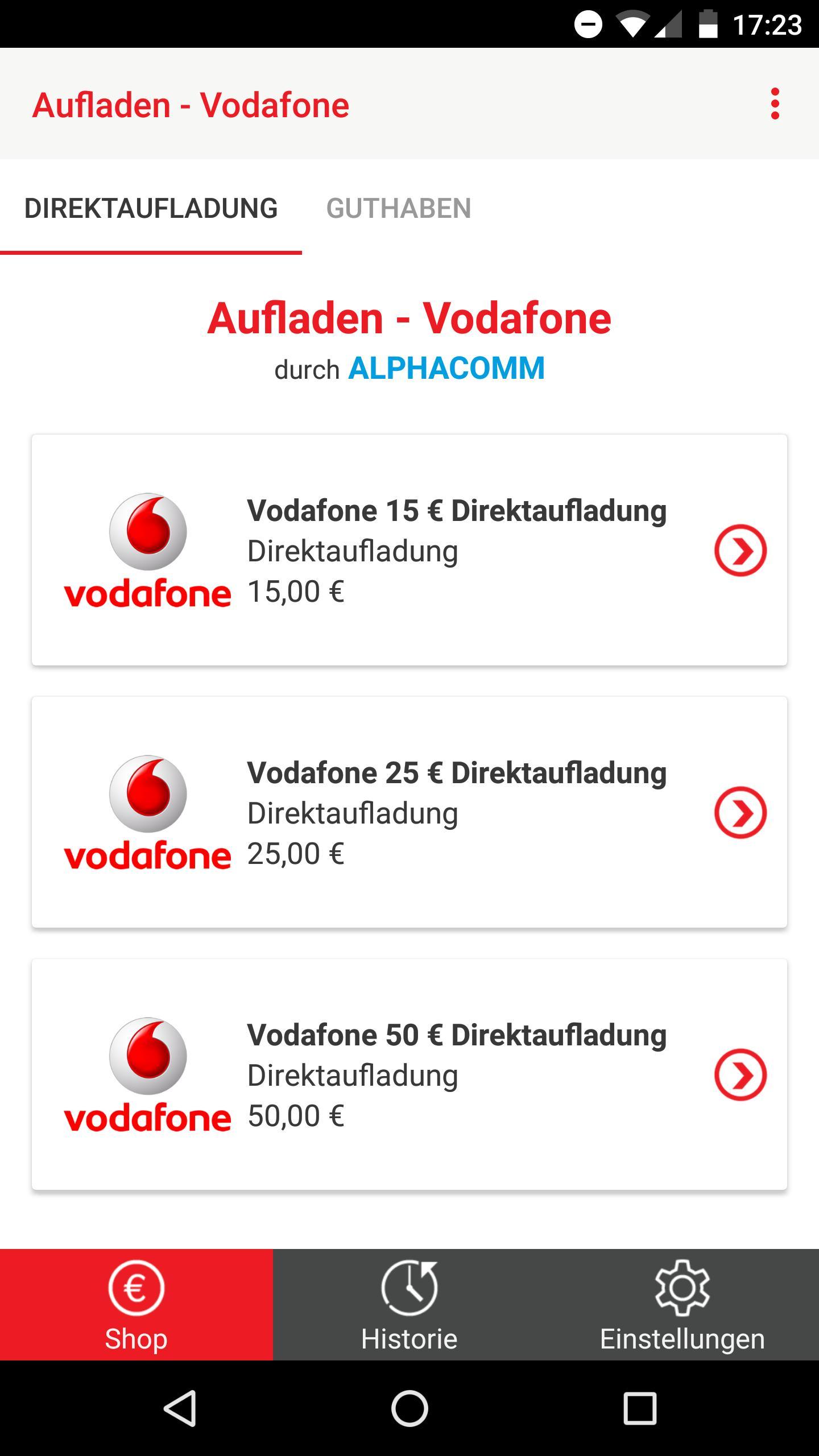 Vodafone - Prepaid Guthaben Aufladen for Android - APK ...