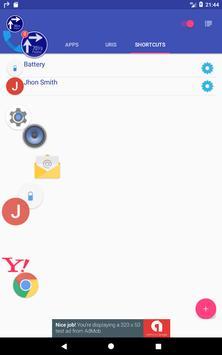 Flosho(Floating Shortcuts Launcher) apk screenshot