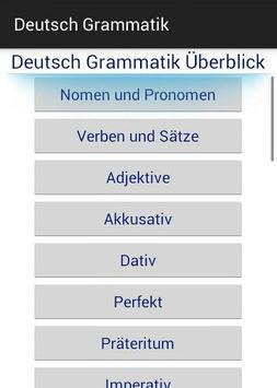 German grammer Overview poster