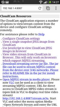 Cloud Cam Demo apk screenshot