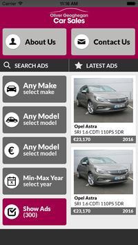 Oliver Geoghegan Car Sales poster