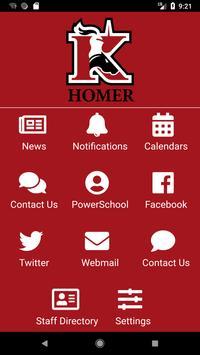 Homer Community School poster