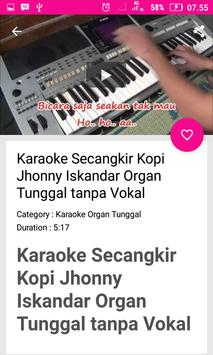 Single Organs Karaoke Dangdut screenshot 2