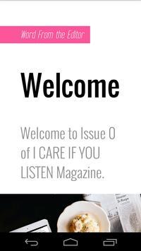 I CARE IF YOU LISTEN Magazine apk screenshot