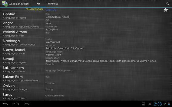 World Languages apk screenshot