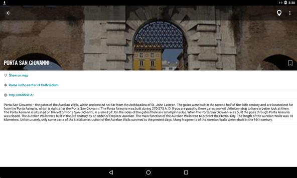 Rome Travel Map Guide in English with Events 2018 screenshot 15