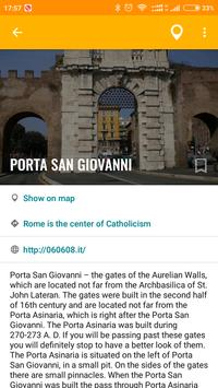 Rome Travel Map Guide in English with Events 2018 screenshot 4