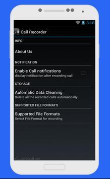 تسجيل المكالمات تلقائيا بسرية  بدون أنترنت screenshot 2