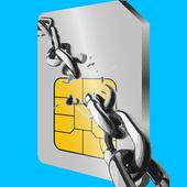 Unlock network locked phone icon
