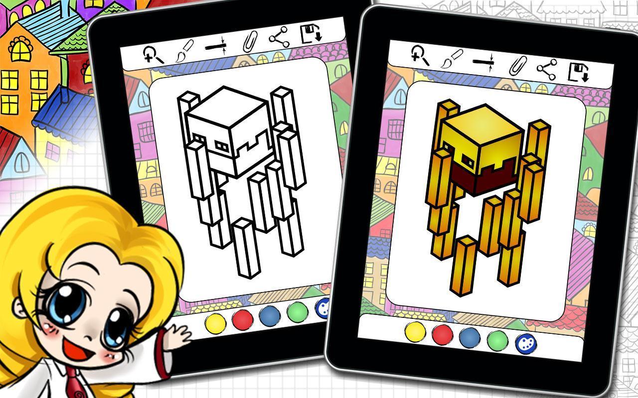 Coloring Book Builders Of Minecraft Adventures Apk Screenshot